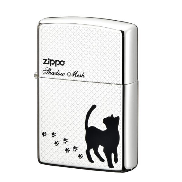 【クーポンあり】【送料無料】ZIPPO メッシュ キャット 2-97a (♯200) 70606 お散歩中のネコの姿をシンプルにデザイン。