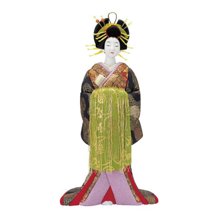 送料無料★花魁の木目込み人形。 【クーポンあり】【送料無料】01-343 おいらん セット 花魁の木目込み人形。