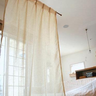 【クーポン有】【送料無料】リネン風カーテン ソフトワルツ 2枚 W100×H200cm(1.5倍ヒダ)/少し透け感のある柔らかな風合いのカーテン。