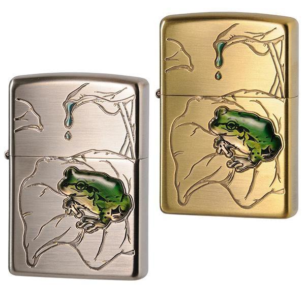【クーポンあり】【送料無料】ZIPPO(ジッポー) ライター 蛙/リアルな蛙を立体的に表現したデザイン。