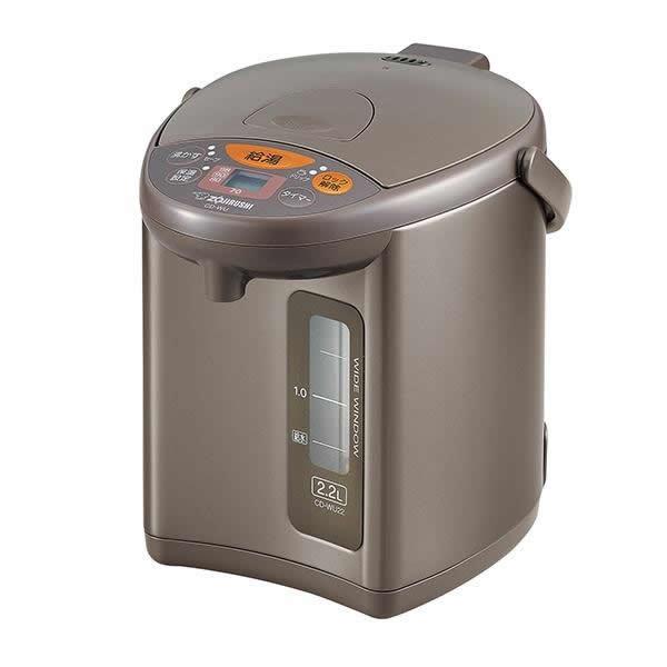 【クーポンあり】【送料無料】象印 マイコン沸とう 電動ポット メタリックブラウン(TM) 2.2L CD-WU22