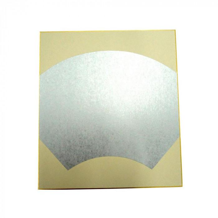 【クーポンあり】【送料無料】大色紙 絵馬型 内銀潜紙 特上 50枚 0055