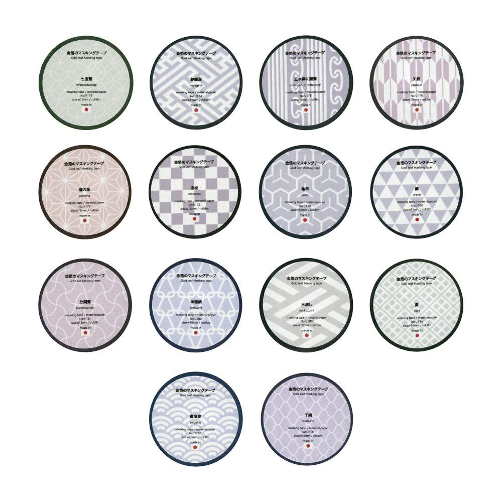 【クーポンあり】【送料無料】金箔のマスキングテープ 14柄セット ト026