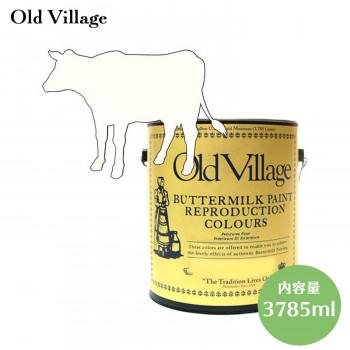 【送料無料】Old Village バターミルクペイント チャイルドロッカーホワイト 3785mL 605-13011 BM-1301G マット DIY ペンキ 白 塗装 塗る 不透明 塗料 木材