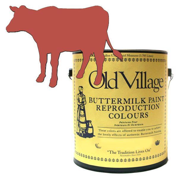 【クーポンあり】【送料無料】Old Village バターミルクペイント オハイオ カップボード ラスト 3785mL 605-14281 BM-1428G