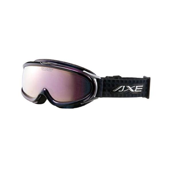 【クーポンあり】【送料無料】AXE(アックス) メンズ 大型メガネ対応 偏光ダブルレンズ ゴーグル AX888-WMP BK・オーロラブラック ウィンタースポーツにオススメ!