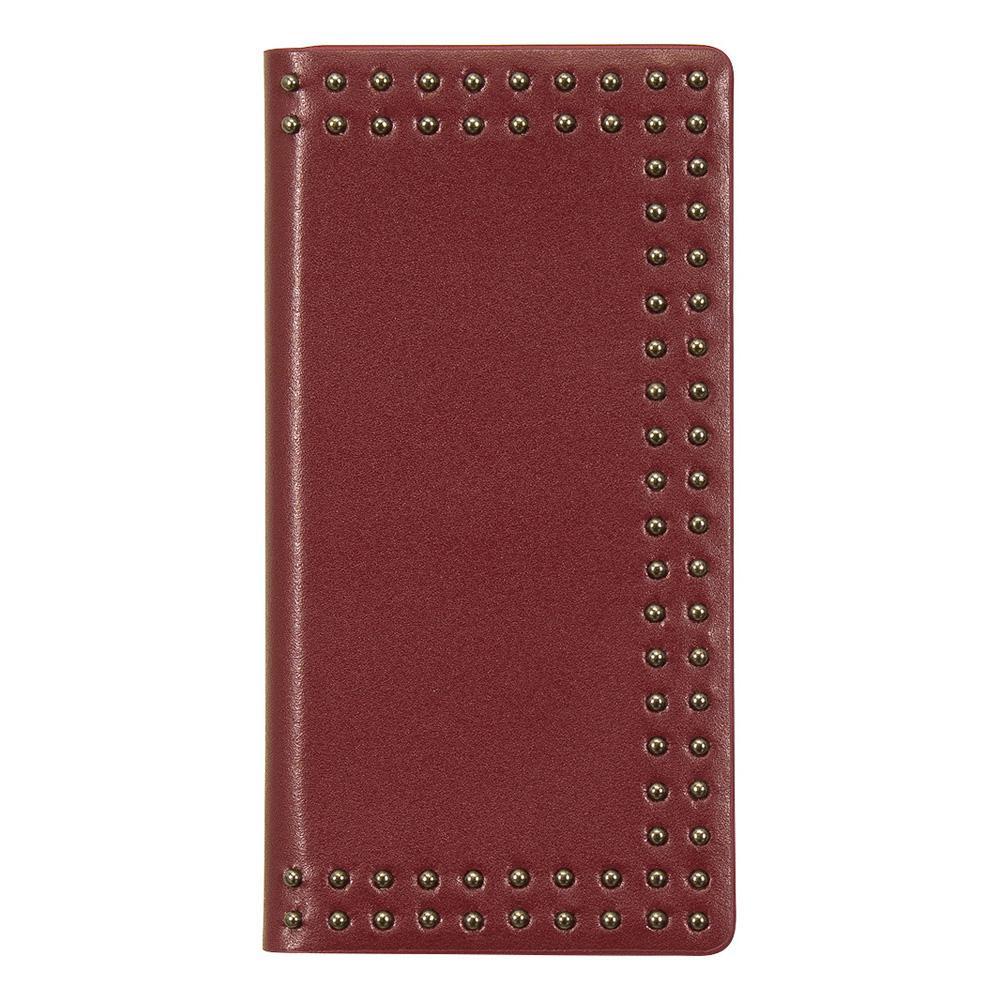 【クーポンあり】【送料無料】Eboluir iPhone8/7 Dot Studs Diary レッド
