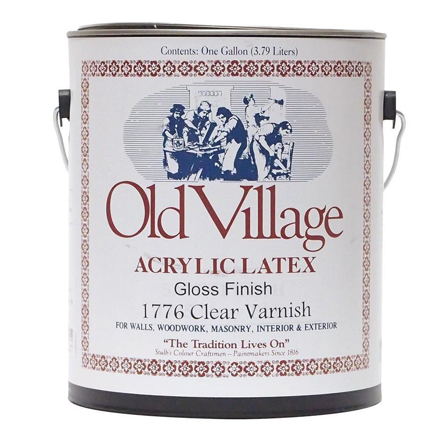 【クーポンあり】【送料無料】Old Village 水性ポリバーニッシュ つや有 3785mL 605-17761 BM-1776G