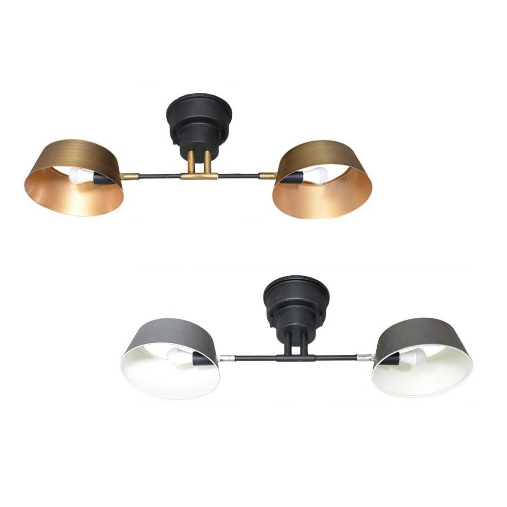 【クーポンあり】【送料無料】ELUX(エルックス) Lu Cerca(ルチェルカ) Capiente2 カピエンテ2 2灯シーリングライト/シンプルデザインの2灯シーリングライト。