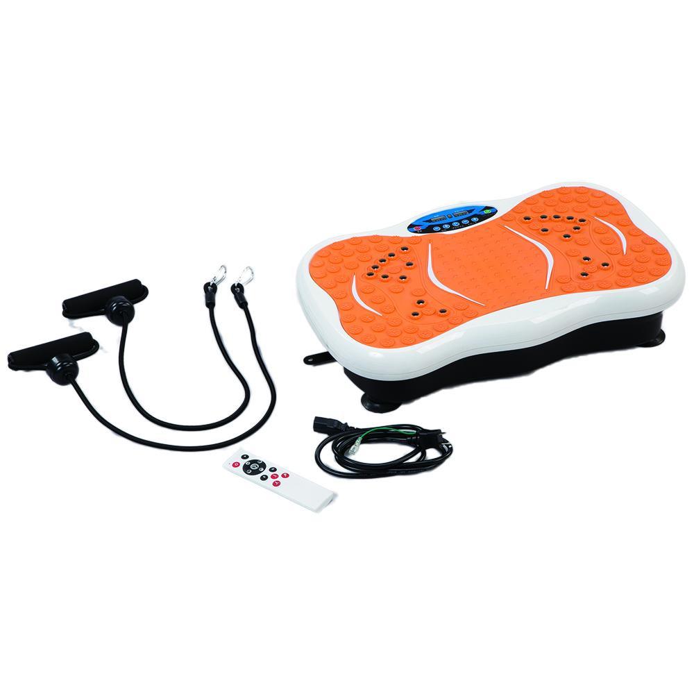 【送料無料】振動マシン ボディシェーカー オレンジ×ホワイト El-80289 運動効果の高いといわれるシェイカー式!