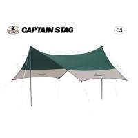 【クーポンあり】【送料無料】CAPTAIN STAG CS ヘキサタープUV(サイドポール2本付) M-3151 5~6人用に最適なリビングスペースを確保!