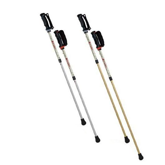 【クーポンあり】【送料無料】SINANO シナノ ウォーキングポール ひかる安心2本杖 暗闇で光る!!2本の杖で身体を支える安心2本杖♪