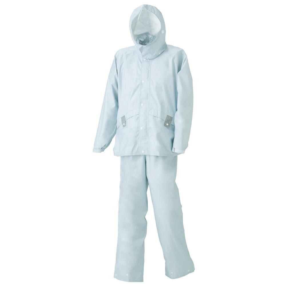 【クーポンあり】【送料無料】スミクラ ストリートシャワースーツ ライブ A-630グレー LL 東レの透湿素材を使用したレインスーツです。