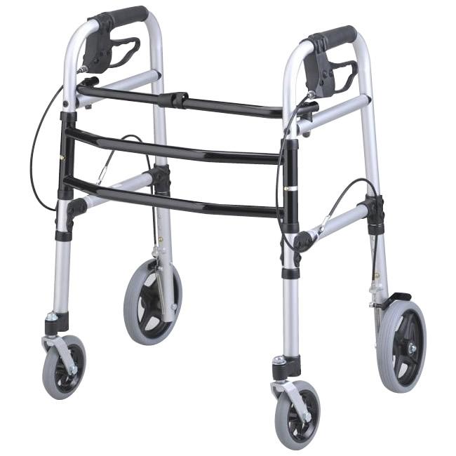 【クーポンあり】【送料無料】テツコーポレーション 安心ウォーカー シルバー 6028-4286 歩行器、歩行訓練に!!