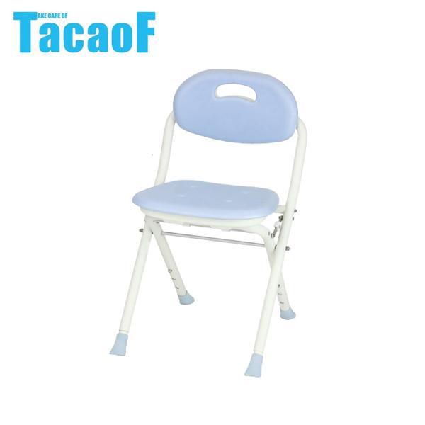 【クーポンあり】【送料無料】幸和製作所 テイコブ(TacaoF) 折りたたみシャワーチェア ブルー BSOC03 軽くて収納にも便利なスリム型!