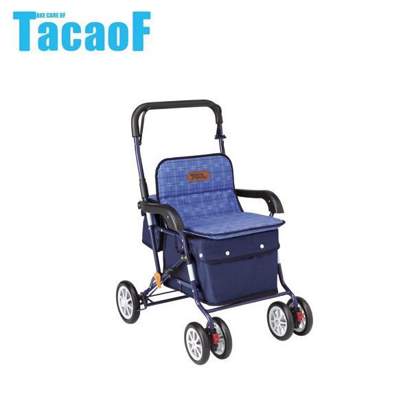 【クーポンあり】【送料無料】幸和製作所 テイコブ(TacaoF) アルミ製シルバーカー ネイビー PW-298
