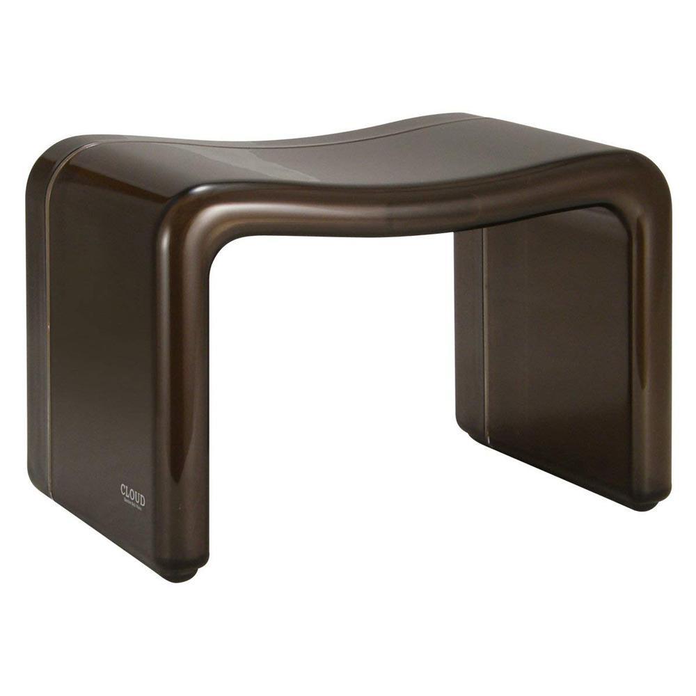 【クーポンあり】【送料無料】シンカテック CLOUD(クラウド) 風呂椅子角 ブラウン Cld-MX-Br