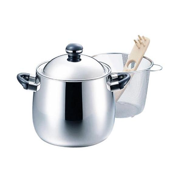 【クーポンあり】【送料無料】オブジェ パスタポット 4.6L OJ-59 0675015/ステンレス製のシンプルデザインが魅力的なパスタ鍋。