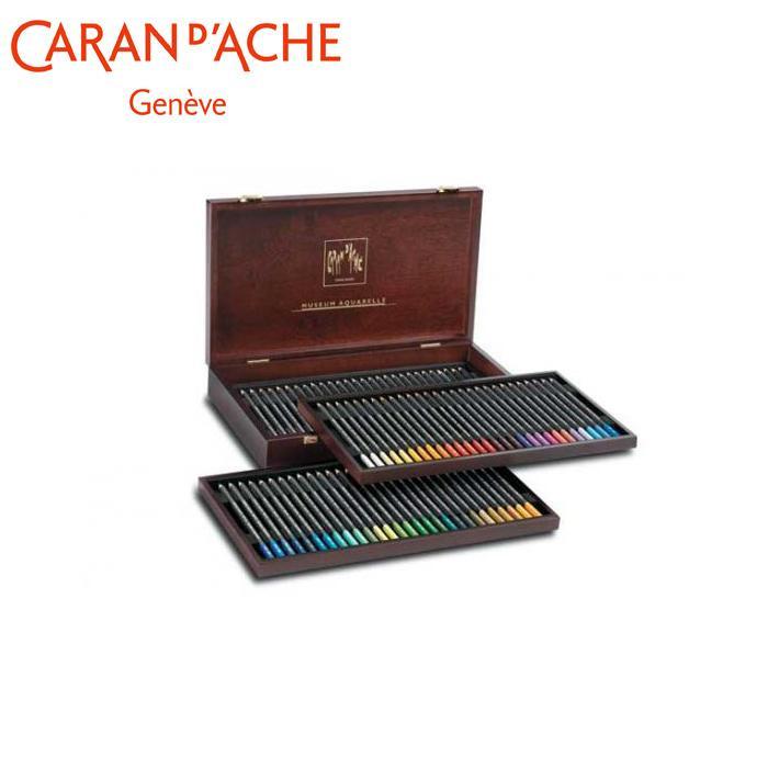 【クーポンあり】【送料無料】カランダッシュ 3510-476 ミュージアムアクアレル 木箱セット 688100 鉛筆の形をした水彩絵の具による革命的なアプローチ。