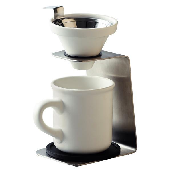 【クーポンあり】Brew Coffee(ブリューコーヒー) 一人用ドリッパー(ホワイト) 51641 一人分のコーヒーを淹れるのにぴったりなドリッパーセット!!