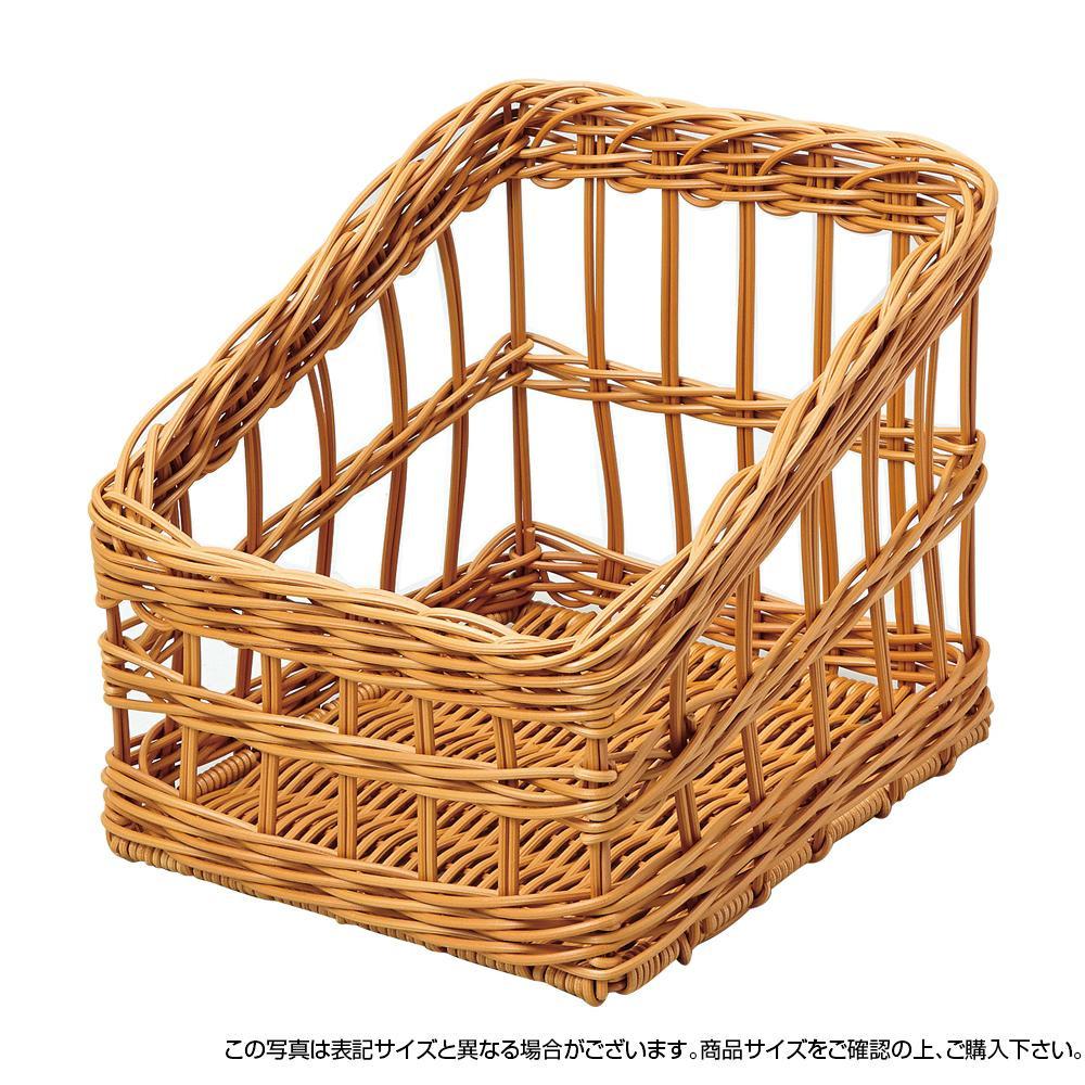 【クーポンあり】【送料無料】萬洋 樹脂フランスパンスタンド角(茶・大) 91-107B 洗えて便利!