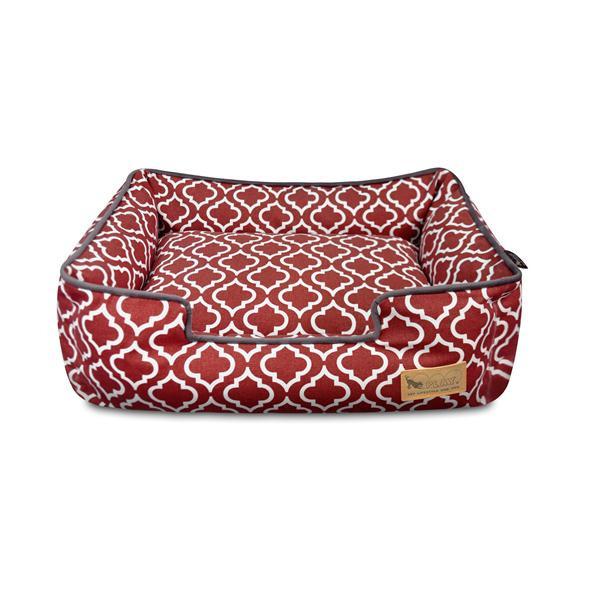 【クーポンあり】【送料無料】P.L.A.Y ラウンジベッド M モロッカン ワインレッド 柔らかいファイバーを箱型に詰め込んだラウンジベッド☆