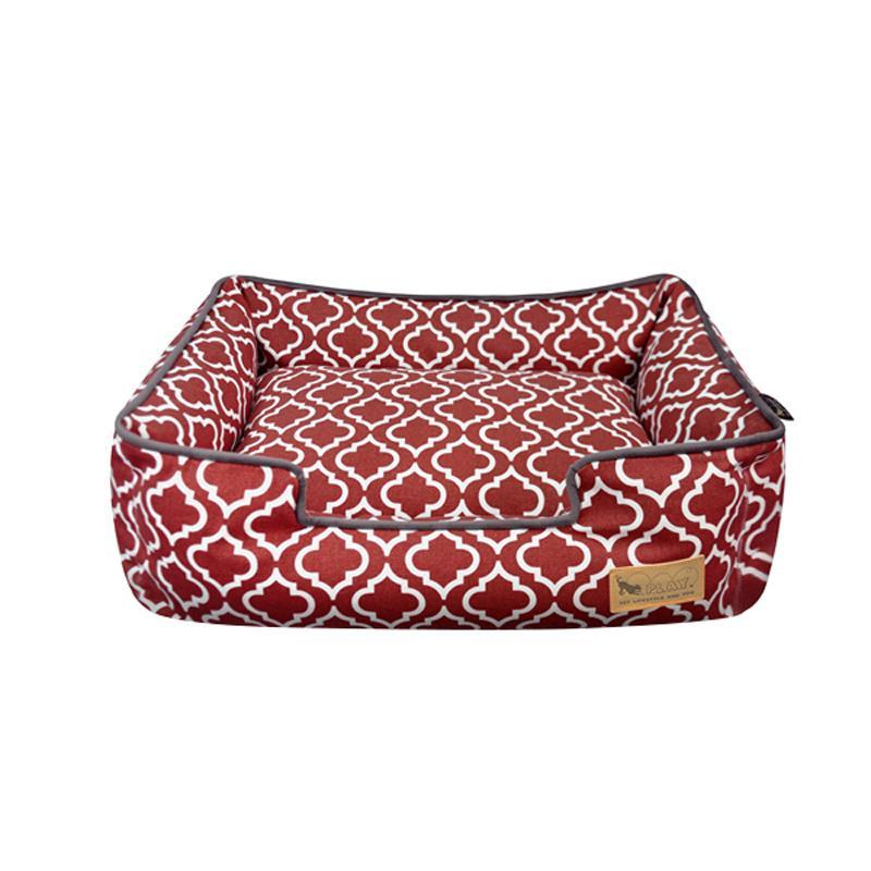 【クーポンあり】【送料無料】P.L.A.Y ラウンジベッド S モロッカン ワインレッド 柔らかいファイバーを箱型に詰め込んだラウンジベッド☆