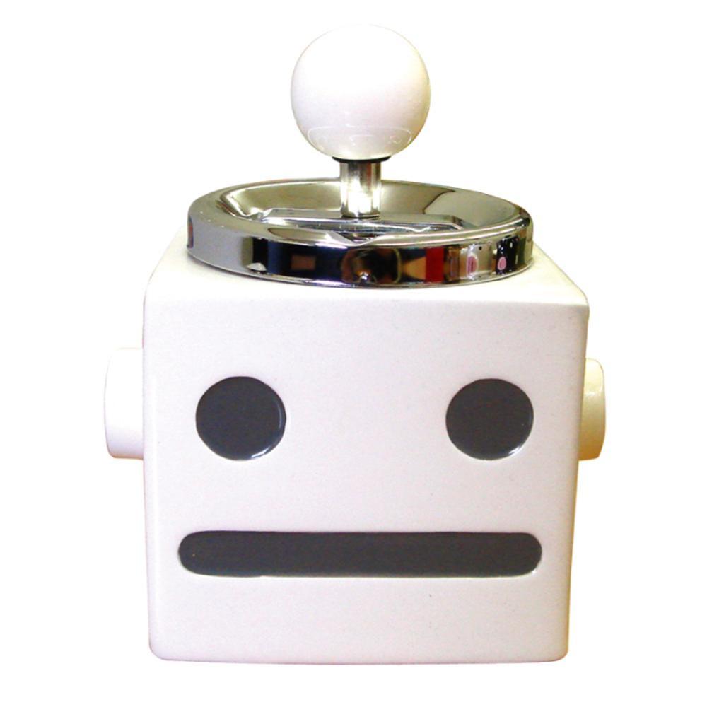 【ポイント10倍】【クーポンあり】ロボタン ターンアシュトレイ(灰皿) WH AR-969 ロボタンのかわいい灰皿です☆