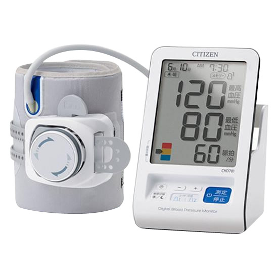 【送料無料】CITIZEN(シチズン) 上腕式血圧計 CHD701 腕に通してまわすだけのかんたん装着!!