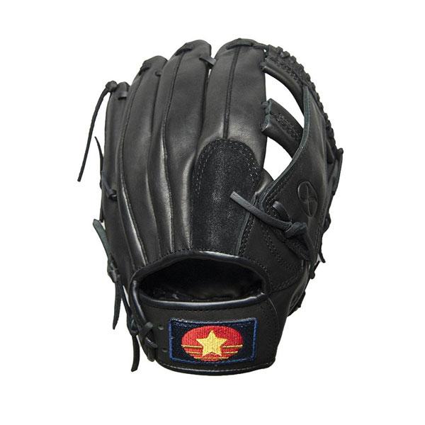 【クーポンあり】【送料無料】ソフトボールグラブ 11.5インチ ブラック 右投げ用(LH) SPS-2051 天然皮革のソフトボール用本格派モデルです。