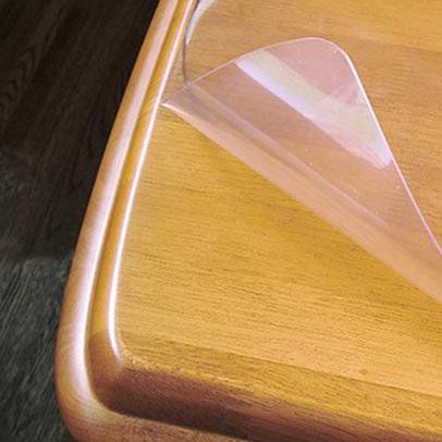 【クーポンあり】【送料無料】日本製 両面非転写テーブルマット(2mm厚) 非密着性タイプ 約750×1200長 TR2-127 ガラステーブル 透明 傷 滑り止めシール 帽子 鏡面仕上げ クリア 厚み ビニール