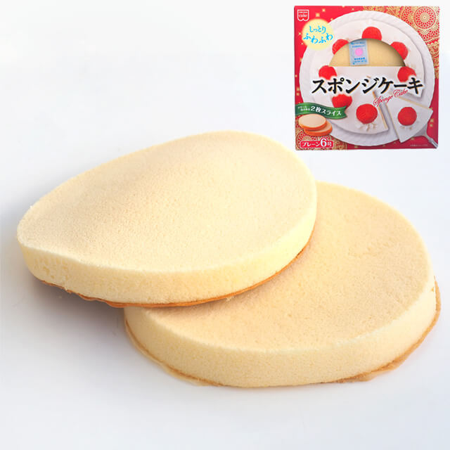 共立食品 無料サンプルOK スポンジケーキ プレーン 大規模セール 18cm