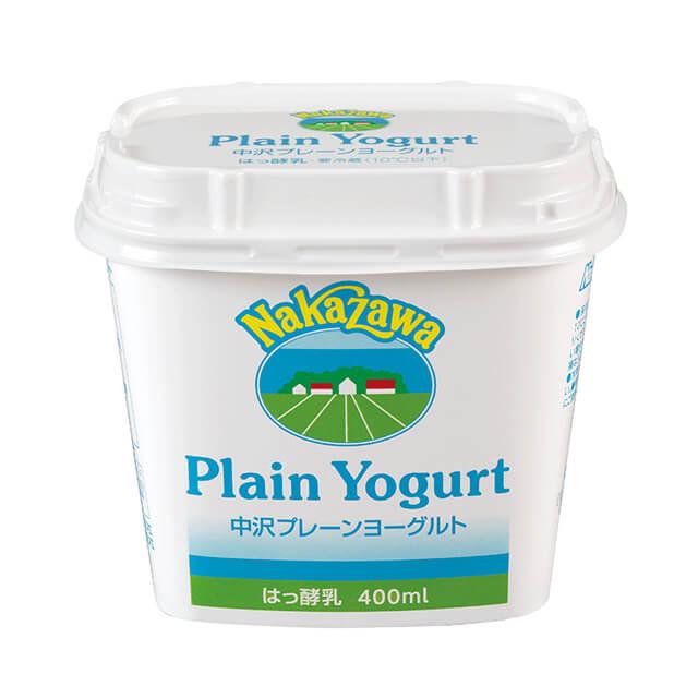 取寄商品 冷蔵 セール特別価格 中沢乳業 全国一律送料無料 400ml プレーンヨーグルト