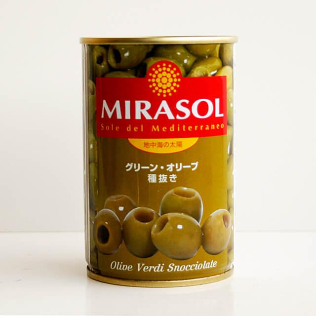 ミラソル 高級品 グリーン オリーブ 300g 種抜き 公式サイト