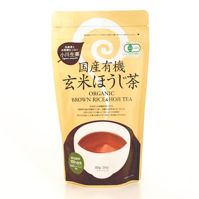 安い 激安 プチプラ 高品質 小川生薬 国産有機玄米ほうじ茶 40g 与え 2g×20袋