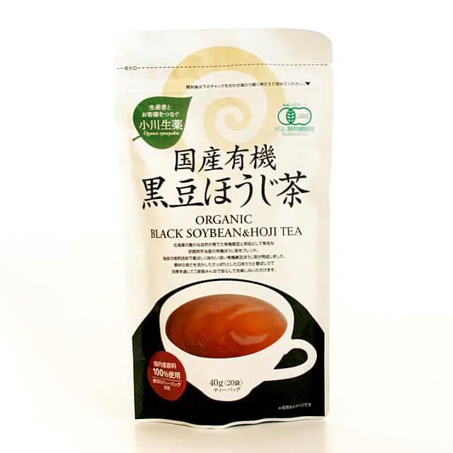 小川生薬 国産有機黒豆ほうじ茶 2g×20袋 40g 大幅値下げランキング 人気ブランド多数対象
