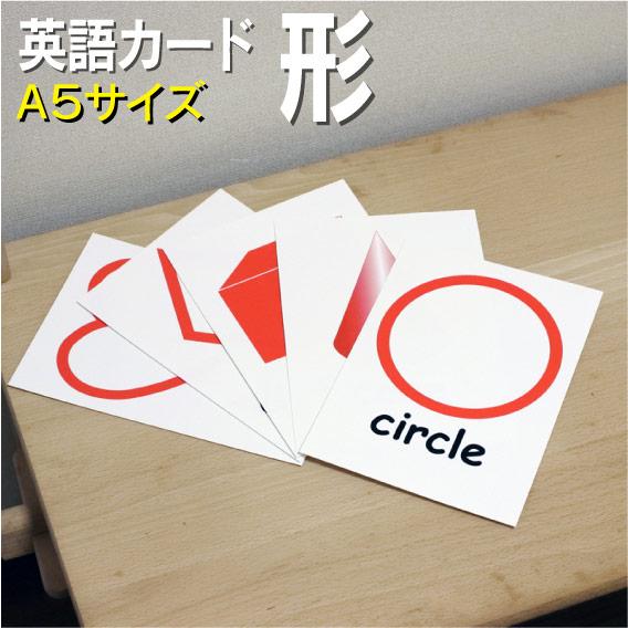 送料無料のフラッシュカード 本日限定 フラッシュカード 卓抜 えらべる 英語 形 カード ラミネート加工■ ■A5