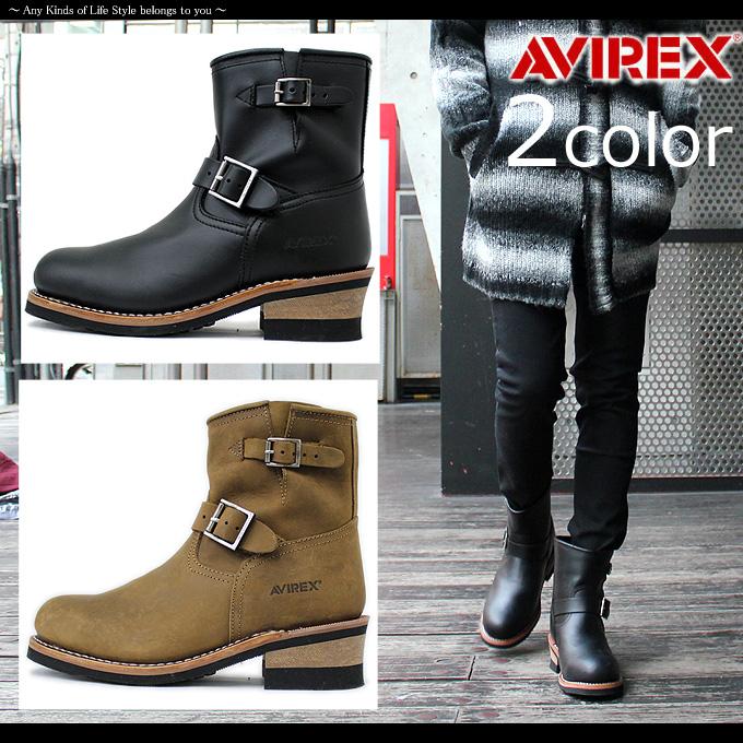 AVIREX U.S.A. アヴィレックス AV2225 ブーツ メンズ / HORNET ホーネット エンジニアブーツ 《AVIREXアヴィレックスAV2225エンジニアブーツレザーメンズ本革靴》 送料無料 レザーブーツ バイカー ライダース エンジニア ブーツ アビレックス 本革 靴 レディース 夏
