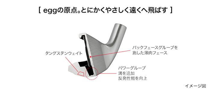 飛距離の壁を突破する 引き出物 NEW egg アイアン PRGR プロギア #7-#9 P 日本正規品 4本セット 開店祝い アイアンセット