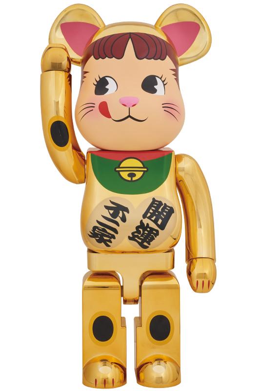 BE@RBRICK 招き猫 ペコちゃん 金メッキ 1000% 七夕祭り 成人式 返品OK