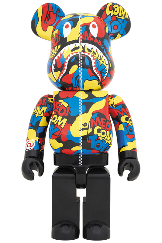 MEDICOM TOY CAMO SHARK BE@RBRICK 1000%