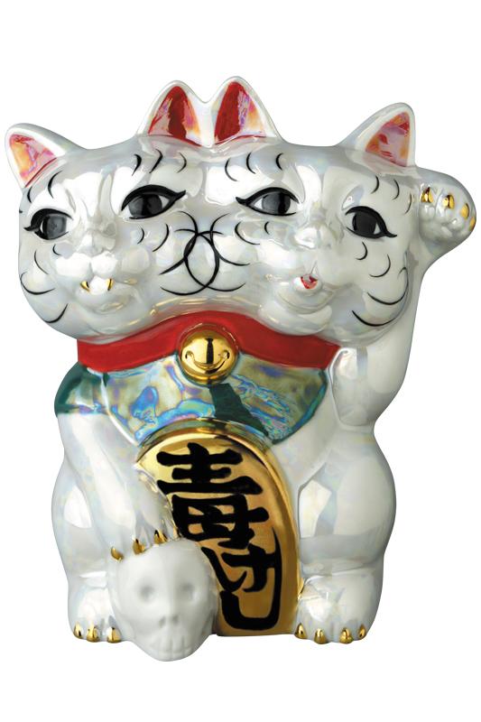 魔よけ猫(ちみどろ齋いづも作)(パール)《2019年11月下旬発送予定》