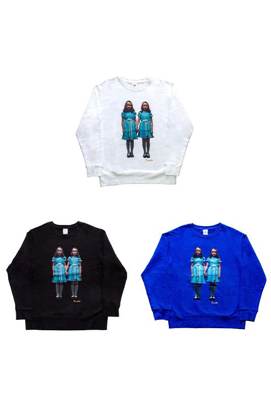 Noodle×THE SHiNiNG unisex sweatshirt WHITE/BLACK/BLUE