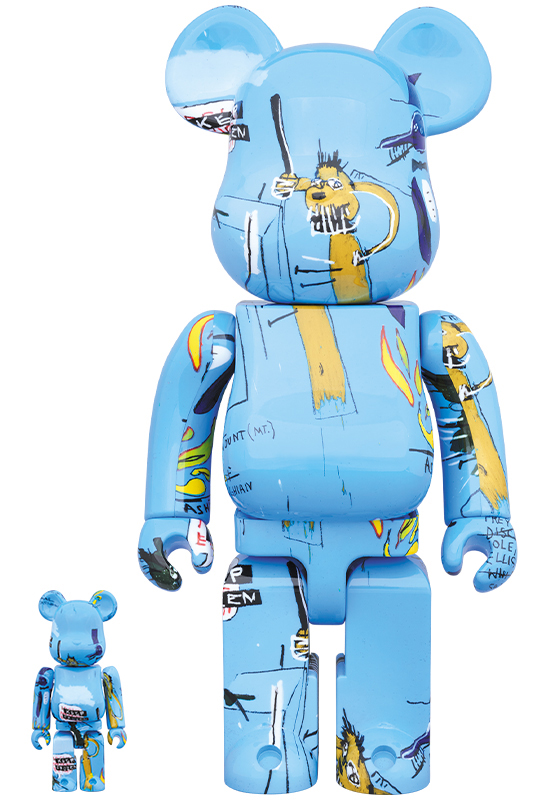 BE@RBRICK JEAN-MICHEL BASQUIAT #4 100% & 400%
