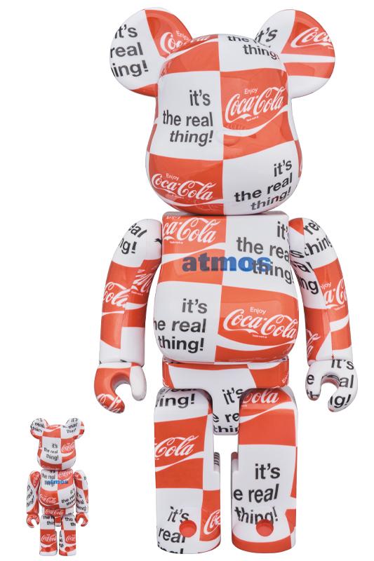 BE@RBRICK atmos × Coca-Cola 100% & 400% CHECKERBOARD