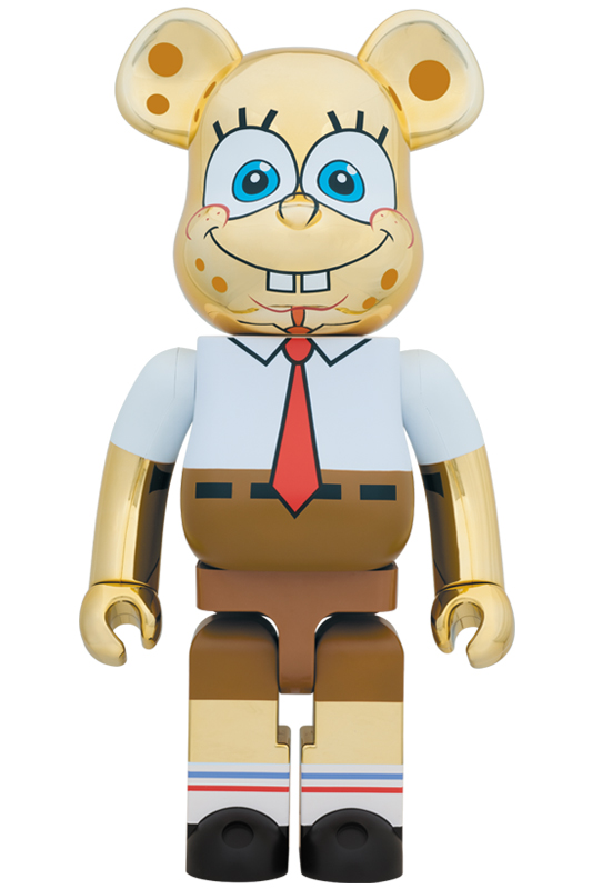 BE@RBRICK SpongeBob GOLD CHROME 1000%《2019年10月発売・発送予定》