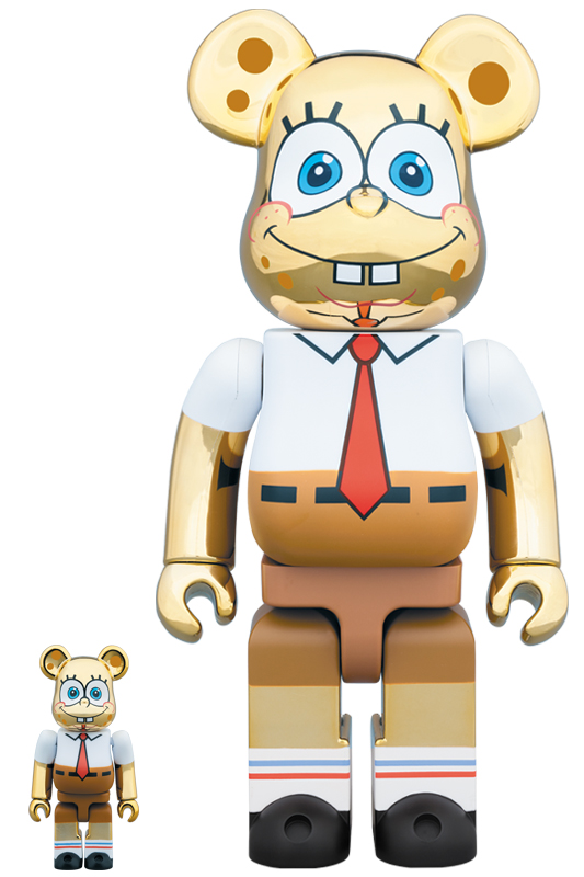 BE@RBRICK SpongeBob GOLD CHROME 100% & 400%《2019年10月発売・発送予定》
