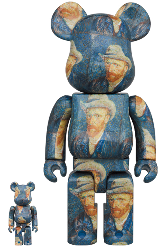BE@RBRICK「Van Gogh Museum」Self-Portrait with Grey Felt Hat 100% & 400%