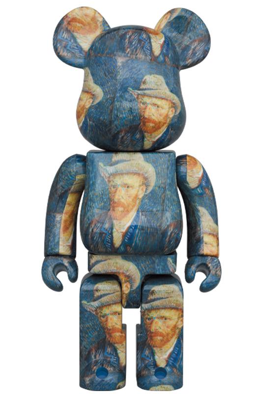 BE@RBRICK「Van Gogh Museum」Self-Portrait with Grey Felt Hat 1000%《2020年12月発売・発送予定》