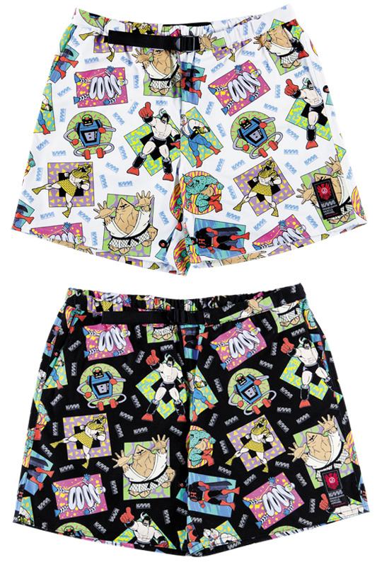 MLE KINNIKUMAN シリーズ KINNIKUMAN SHORT PANTS WHITE/BLACK